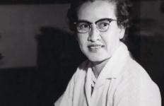 """Mathematician Katherine Johnson""""s calculations of orbital mechanics led to successful U.S. manned spaceflights - She was 1 of the 3 people depicted in the movie Hidden Figures - credit NASA John Glenn"""