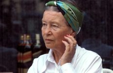 Simone de Beauvoir, author, intellectual, existentialist philosopher, political activist, feminist and social theorist. an influence and an inspiration to feminism