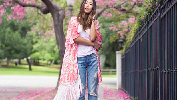 Seven Styling Tips To Wear Kimonos Jackets