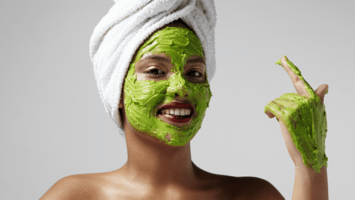 Image result for woman avocado face mask image