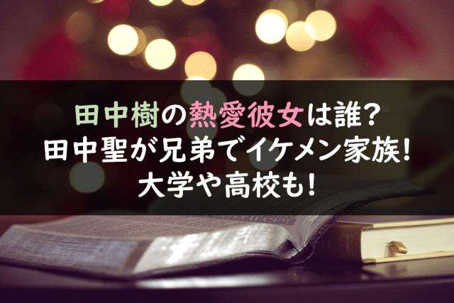 田中樹 彼女 佐藤すみれ