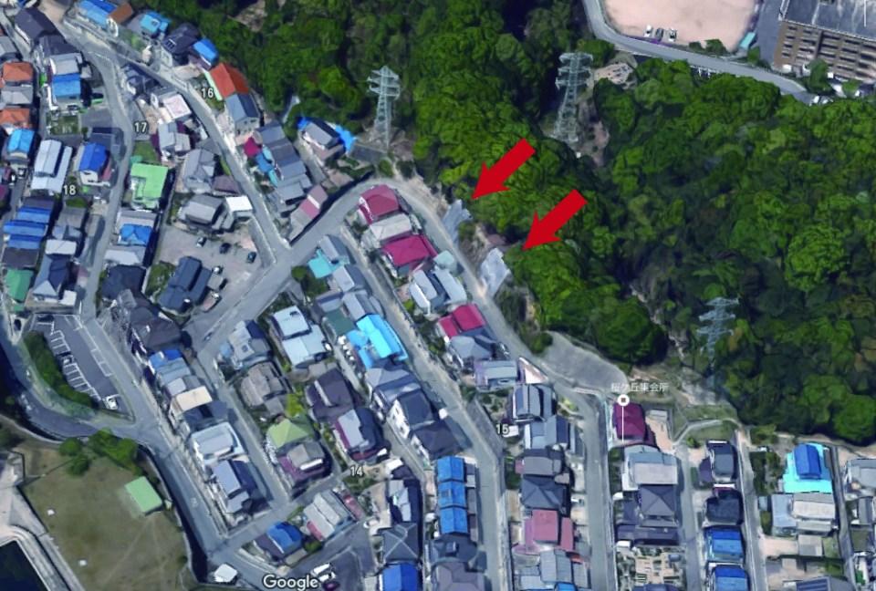 桜ヶ丘15崖崩れ
