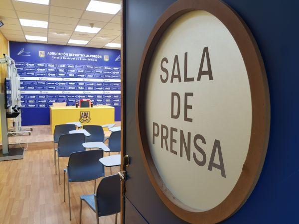 sala de prensa de futbalia y la agrupación deportiva alcorcón