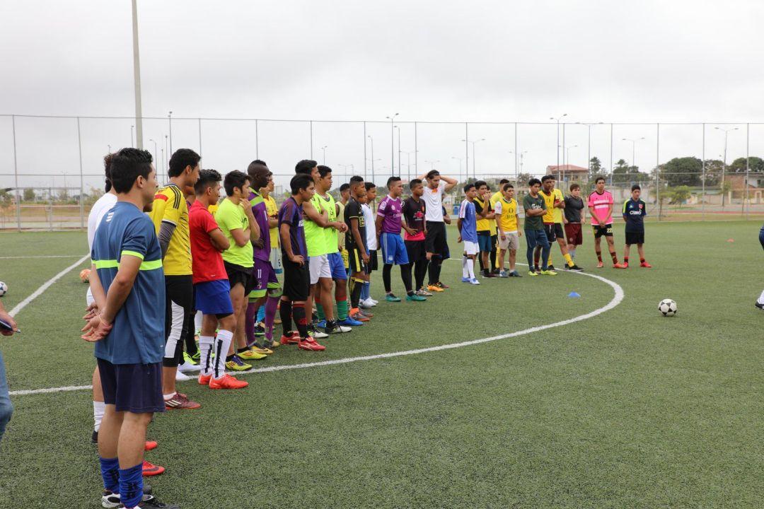 Grupo de futbolistas de América Latina