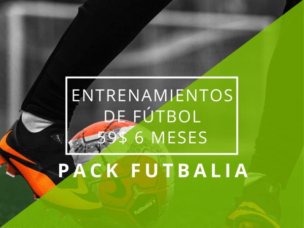pack futbalia entrenamientos 6 meses