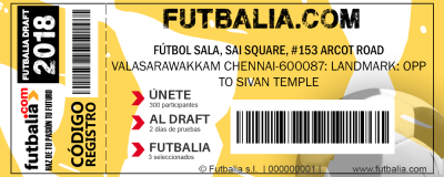 matricula futbalia ticket