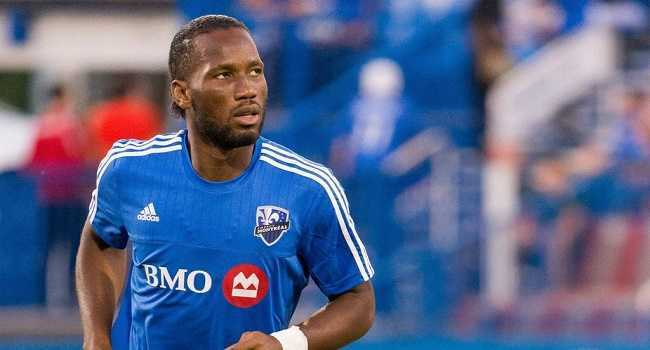 AUG 22 2015 Montreal Impact forward Didier Drogba 11 warms up prior to a MLS Fussball Herren USA