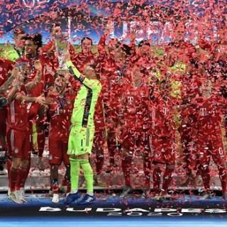 Бавария празднует победу в Суперкубке УЕФА