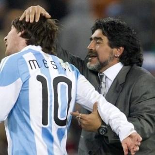 Диего Марадона и Лионель Месси