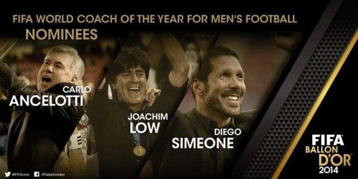 Ancelotti, Simeone y Löw, candidatos al Balón de Oro de entrenadores 2014 1