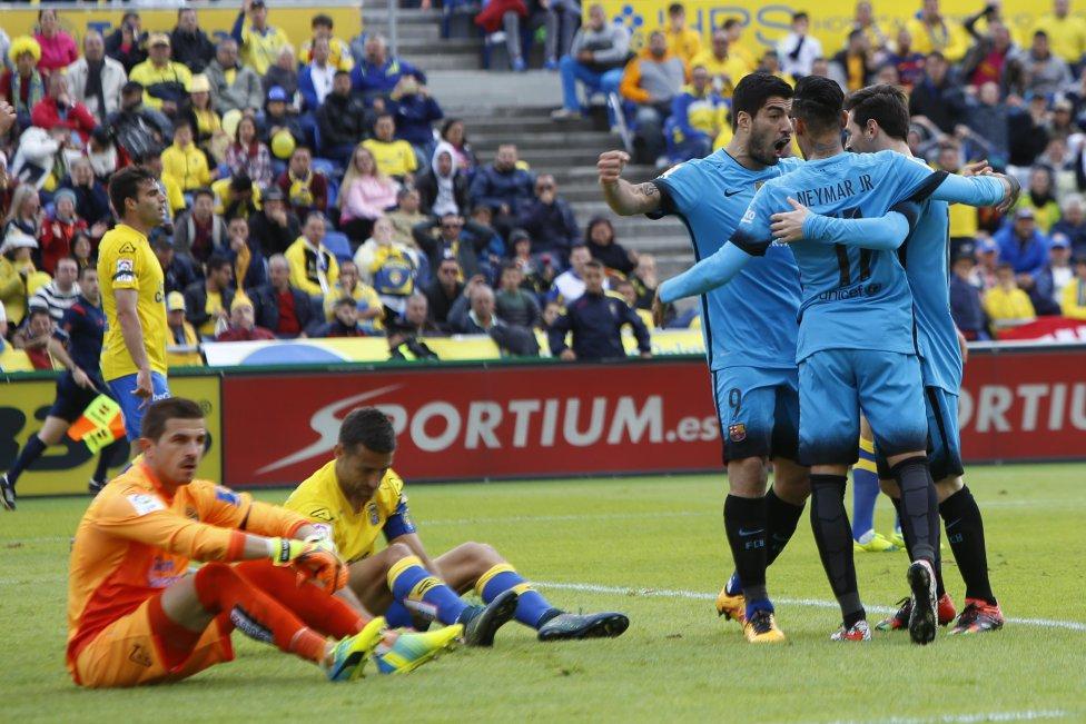 Las Palmas-Barcelona en imágenes