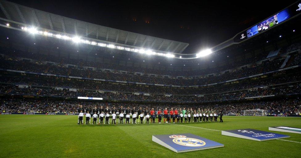 En las noches europeas el Bernabéu tiene una luz especia, aunque el rival sea tan cutre