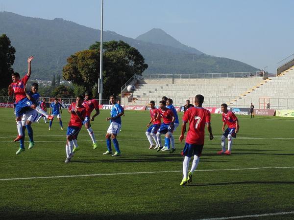 Costa Rica enfrentó a Nicaragua esta tarde en Santa Tecla. Foto: Mendelson Nicoya, vía twitter.