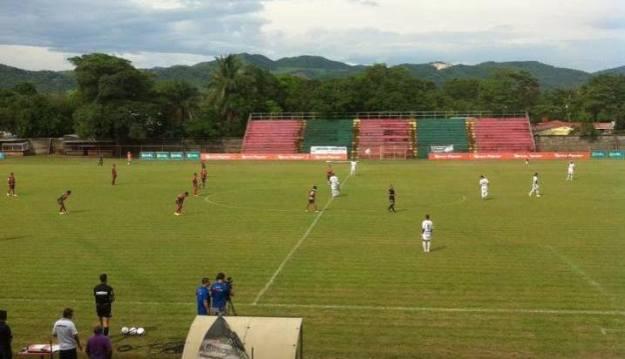 Guanacasteca recibió a Carmelita en el estadio Chorotega. Foto tomada del Facebook de ADG.