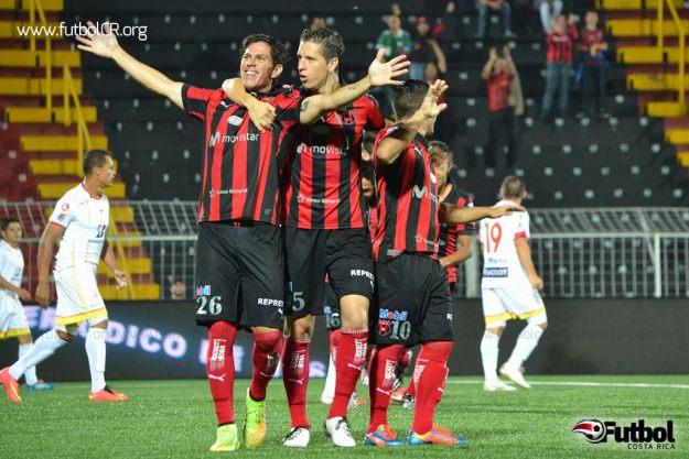 Ariel Rodríguez celebró el gol tempranero de los manudos. Foto cortesía yashinquesada.com