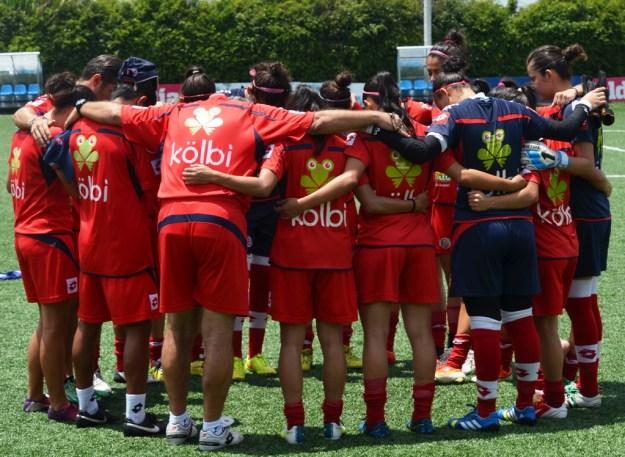 Las seleccionadas por Carlos Avedissián son en su mayoría de Saprissa FF, AD Moravia y CS Herediano. Foto cortesía www.fedefutbol.com