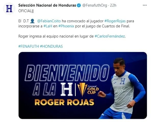 Fenafuth anuncia a Roger Rojas como reemplazo de Muma Fernández