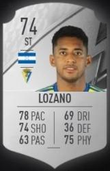 Anthony Lozano en FIFA 22 (Foto: Futbin)