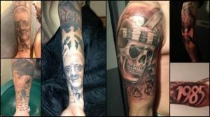 Bosetti mostró sus tatuajes al público del Marsella después de empatar el pasado 21 de enero en el partido de Copa