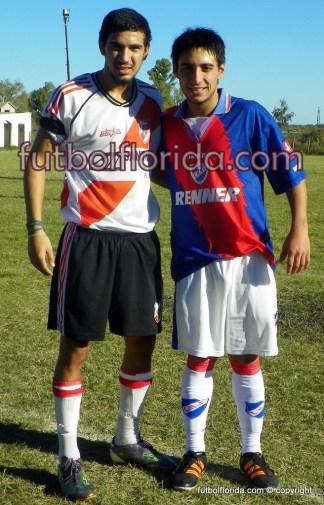 Facundo Cabrera de River Plate y Joel Viera de Nacional