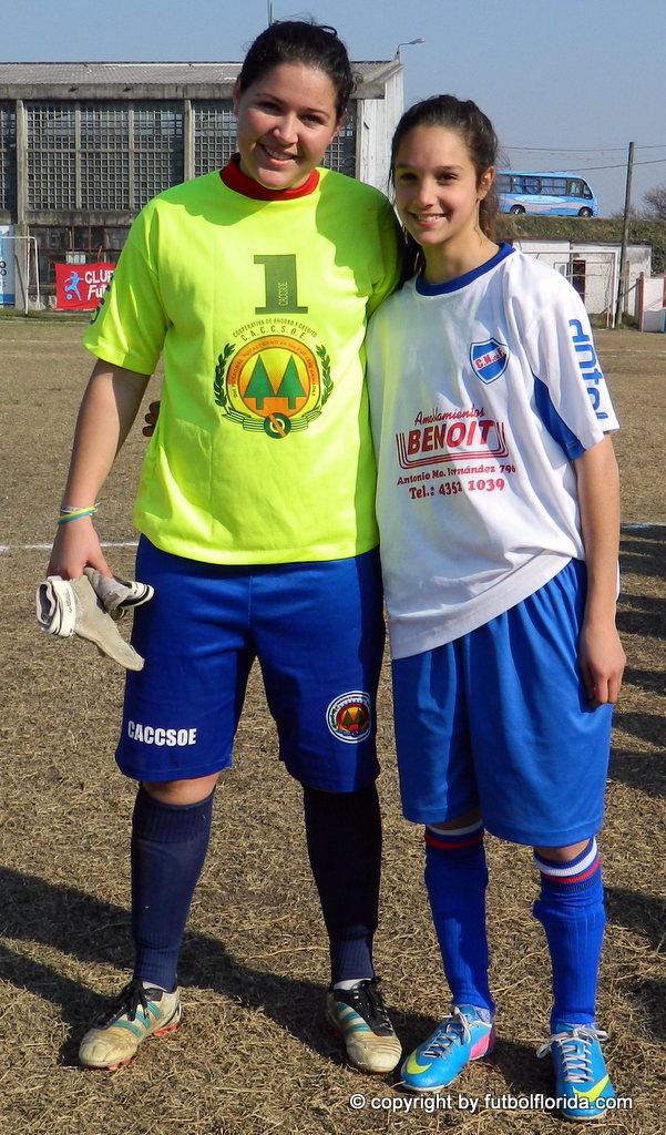 Se vuelven a enfrentar. La golera de la Uruguaya Sub 20 Gabriela Gonzalez y Romina Alanis de la Sub 17 de Uruguay