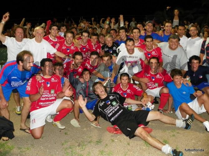 Colonia, el último Campeón del Sur en la noche del 27-02-2012 en el ECO