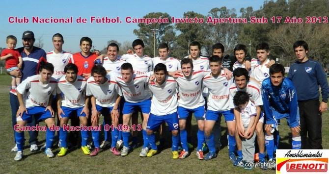Nacional sin puntos en contra es el Campeón de Sub 17. Foto Fanny Ruétalo