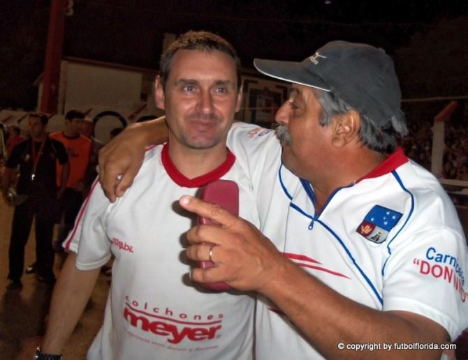 Carlos Rodriguez junto a Leonardo Guardia. Dos ganadores. Foto Luis Gimenez Pedrin