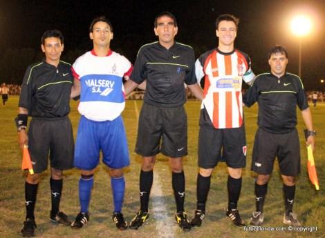 Jose Dure junto a Pelayo y Lopez mas los capitanes Castro de Florida y Frabega de Sarandi Grande