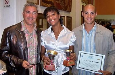Andres Barrios, Deborah Rodriguez y Andres Silva. Foto Halcones