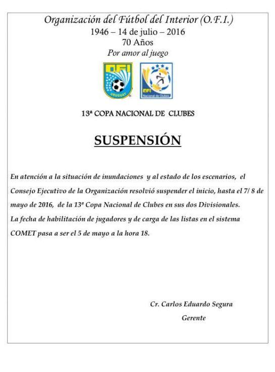 suspension copa