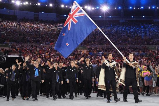 Nueva Zelanda en desfile inaugural. Foto Mario de la Renta