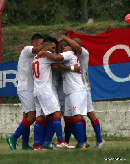 El festejo del gol del triunfo de Quilmes