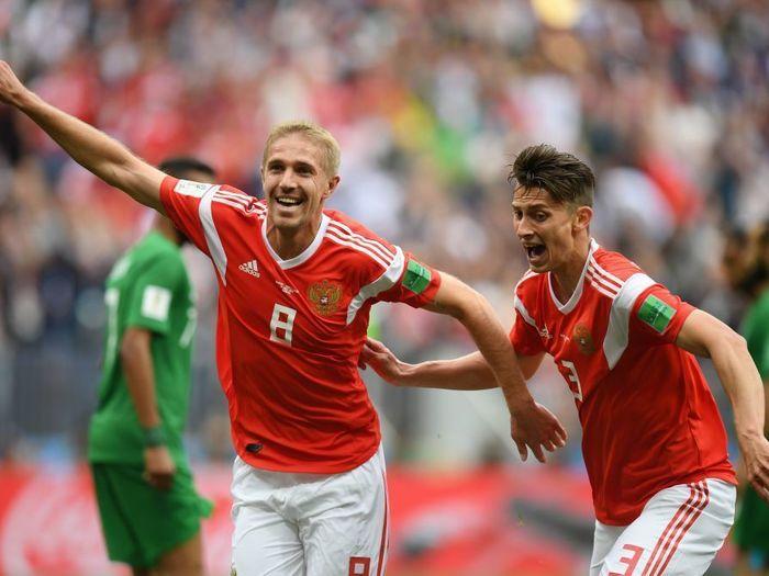 Rusia comenzó la Copa del Mundo de 2018 con una victoria contundente
