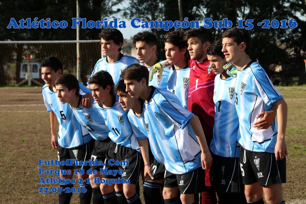 Atlético Florida Campeón Sub 15