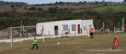 El primer gol del Femenino de Florida lo anotó María Godoy de penal para España