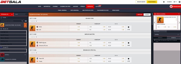 Apuestas en eSports en Betsala