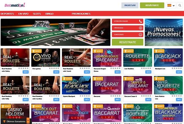 Juegos de casino online Betmotion