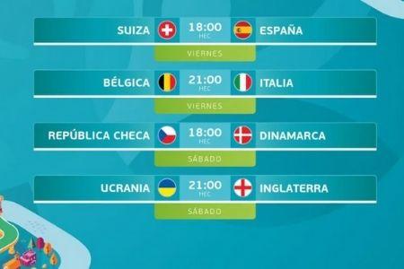 cuartos de final en la eurocopa 2021