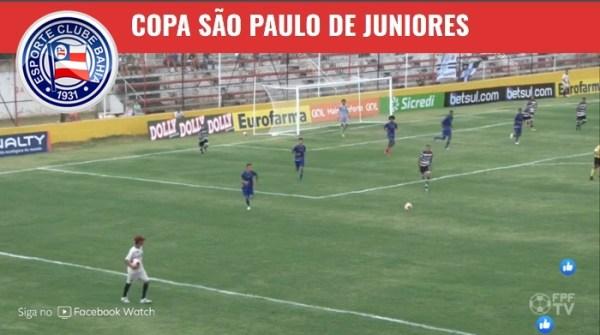 Bahia vence e encaminha classificação na Copa São Paulo 2020