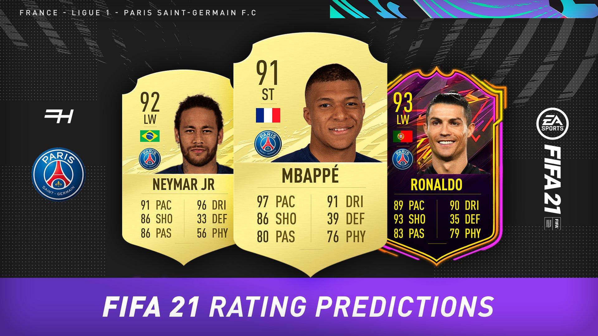fifa 21 rating predictions psg