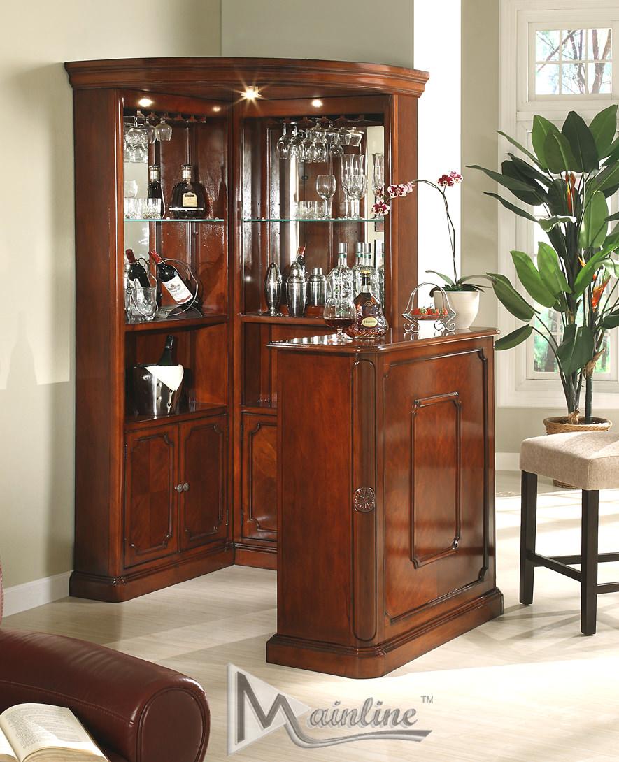Yorkshire 3 Pcs Corner Wine Cabinet By Mainline