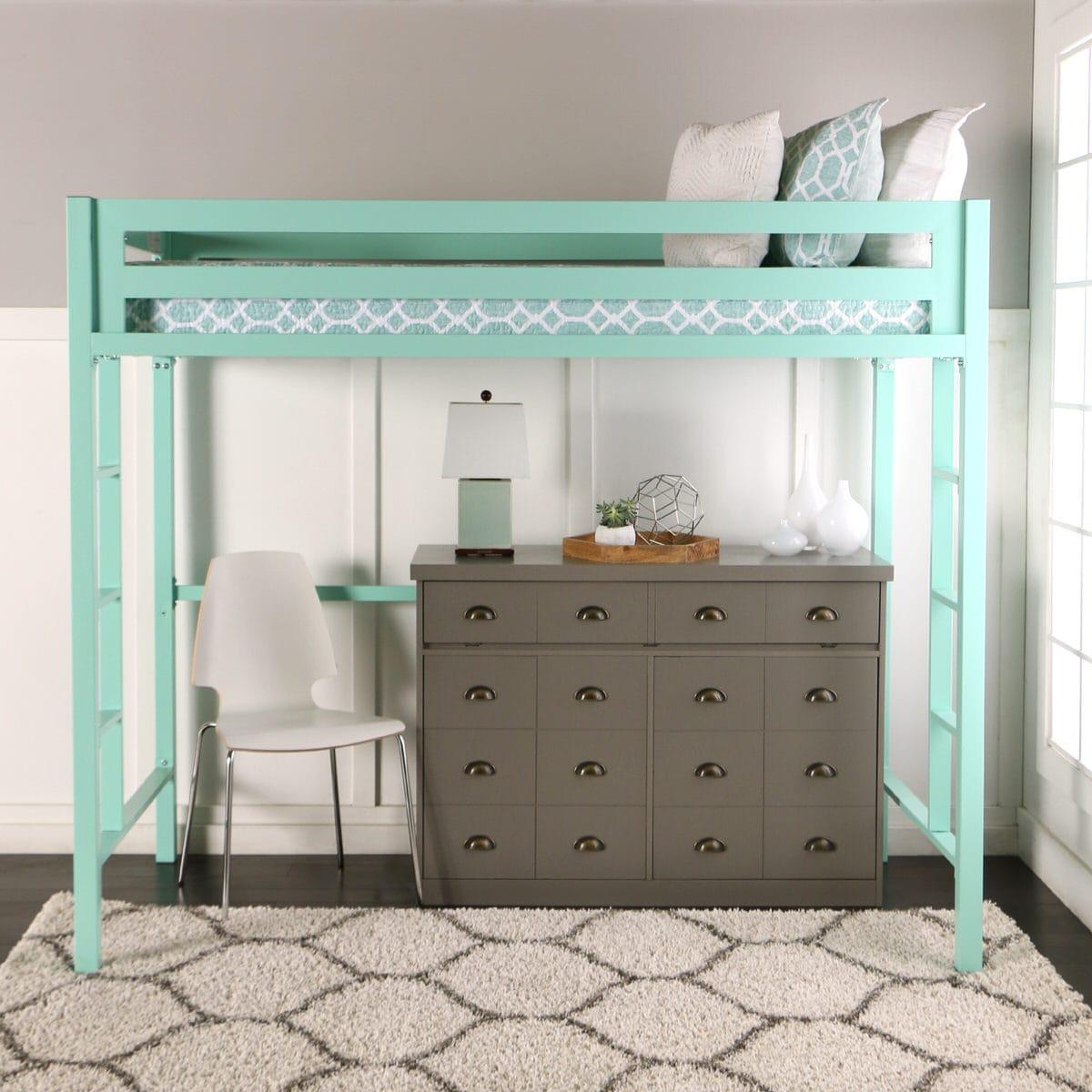 Bentley Twin Loft Bed Mint By Walker Edison