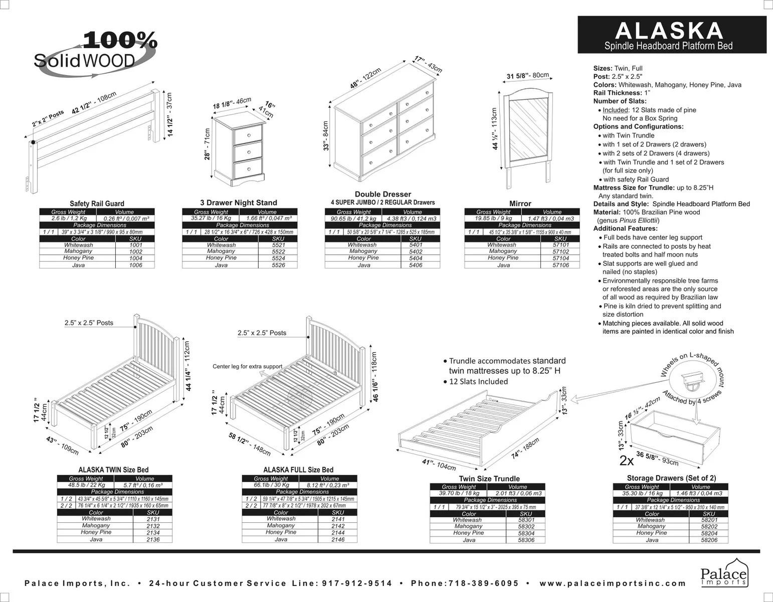 Alaska Bed By Palace Imports