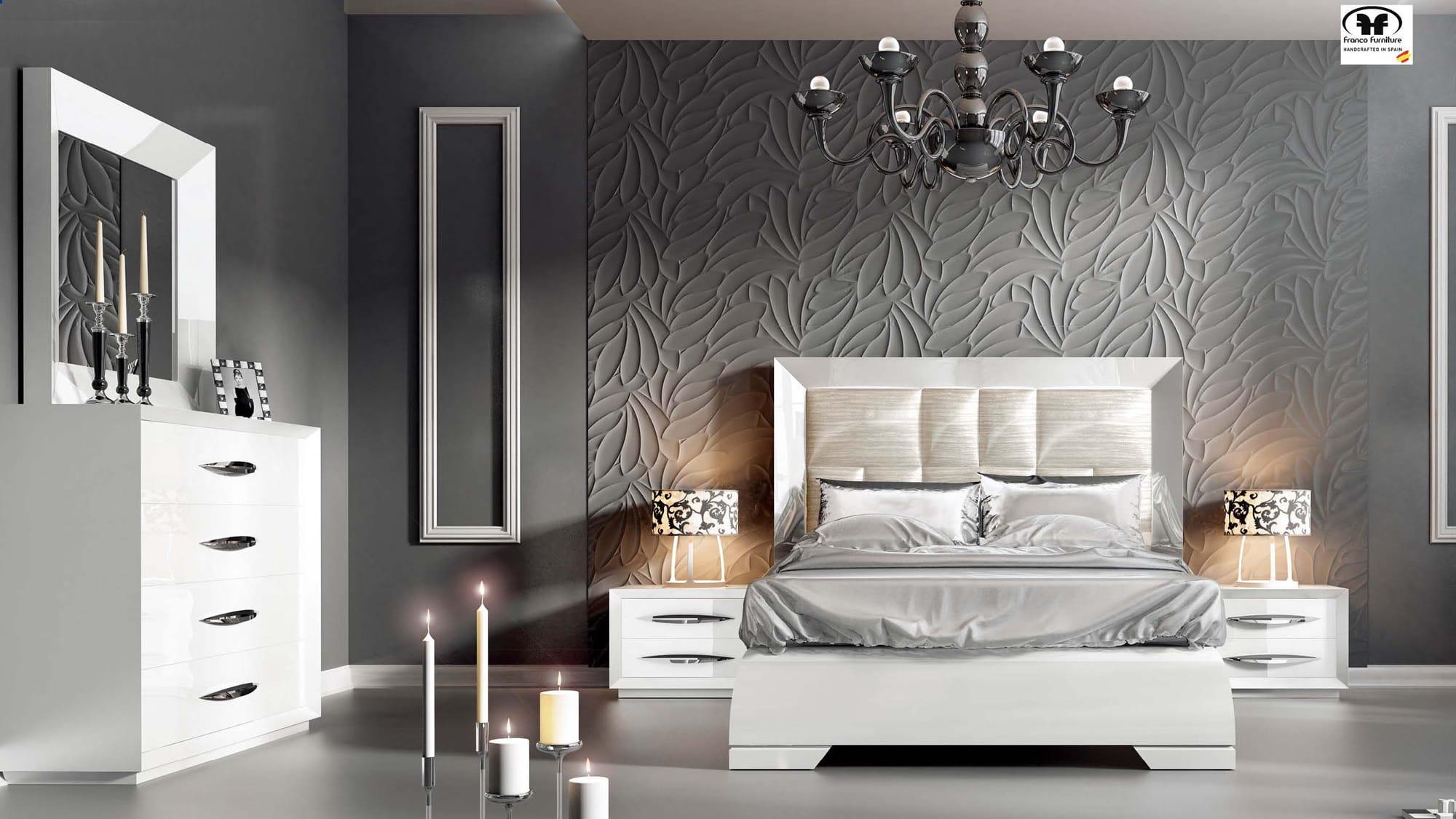 carmen white bedroom set by esf