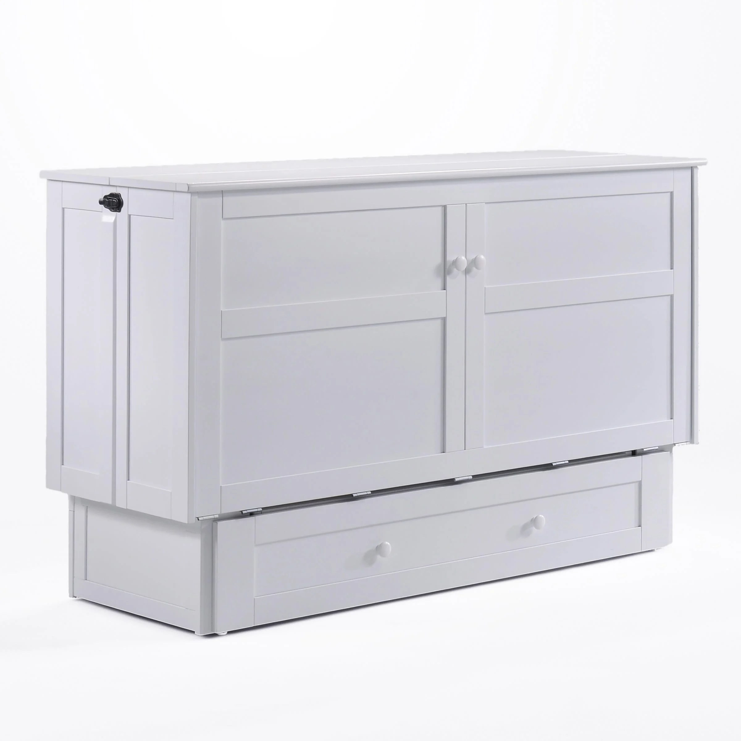 clover queen murphy cabinet bed white by night day furniture