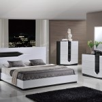 Hudson Zebra Grey White Glossy Bedroom Set By Global Furniture