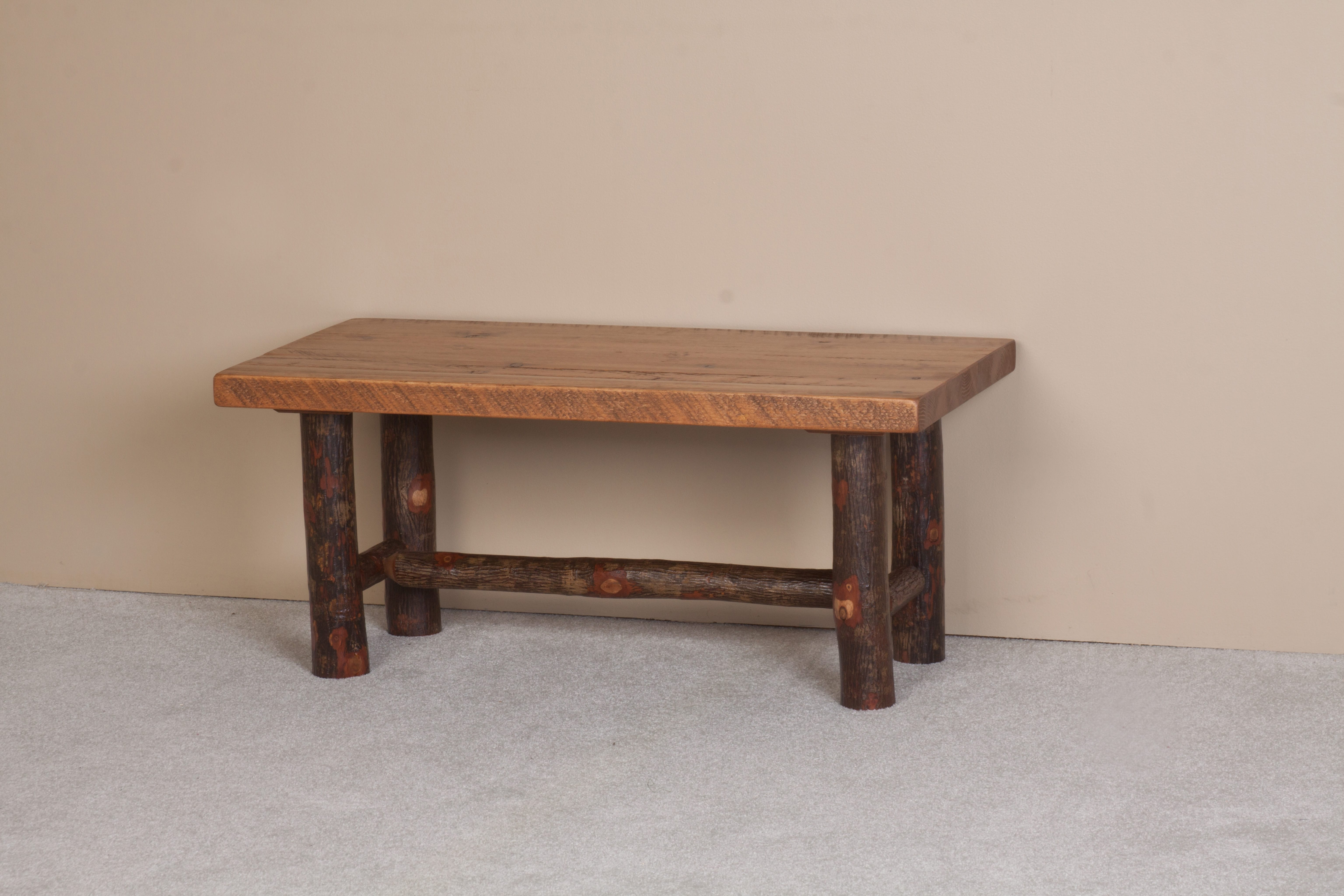 sawtooth hickory honey pine coffee table by viking log furniture