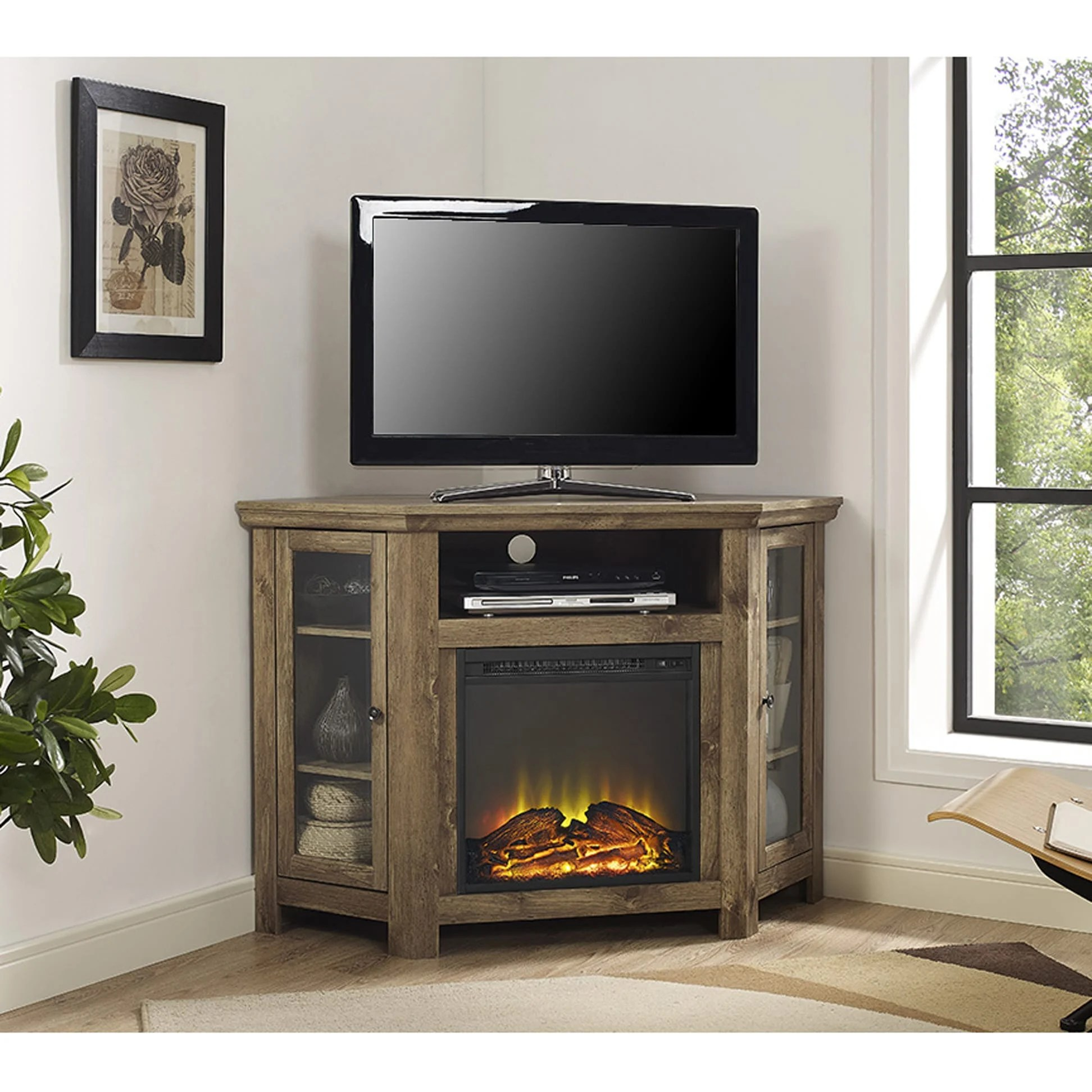 Jackson 48 Inch Corner Fireplace TV Stand Barnwood By