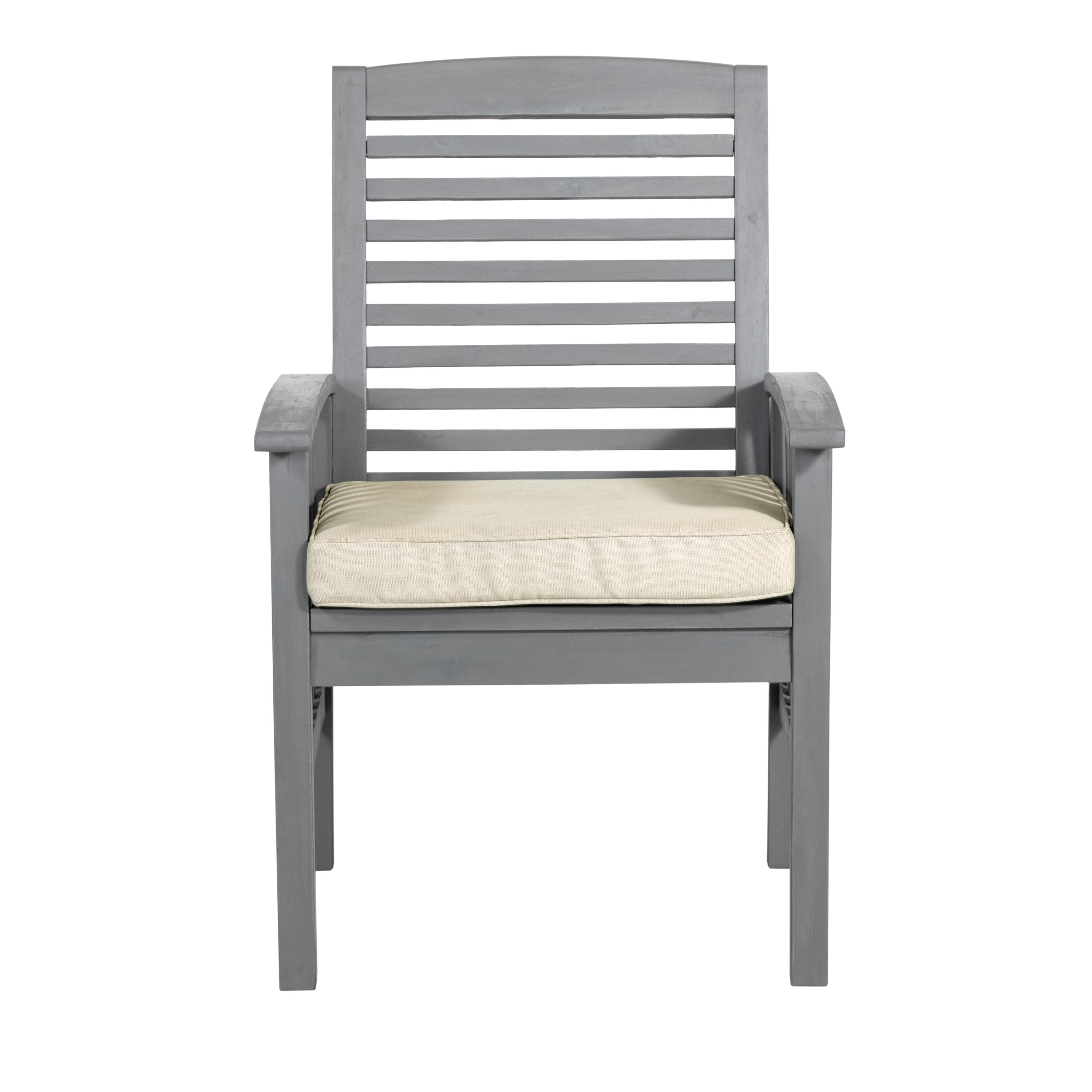 acacia wood patio chairs with cushions set of 2 grey wash by walker edison